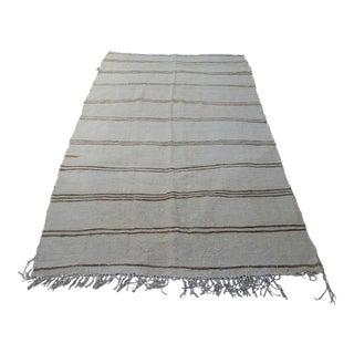 Handwoven Turkish Stripe Hemp Rug