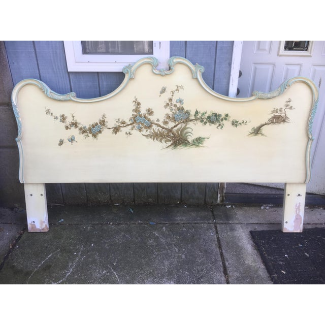 Asian Style Hand Painted King Headboard - Image 3 of 7