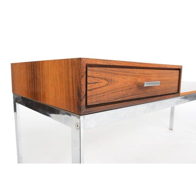 Danish Modern Rosewood Amp Chrome Entry Bench Chairish