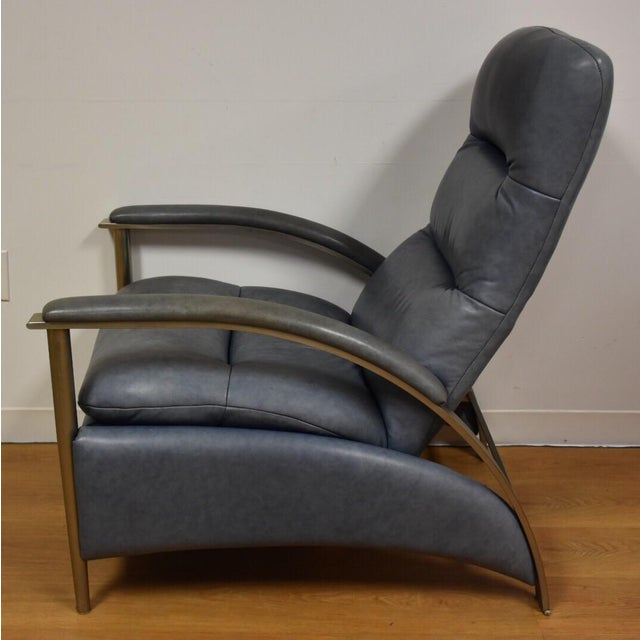 Ethan Allen Modern Leather Recliner Chairish
