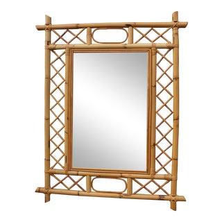 Vintage Bamboo Fretwork Mirror