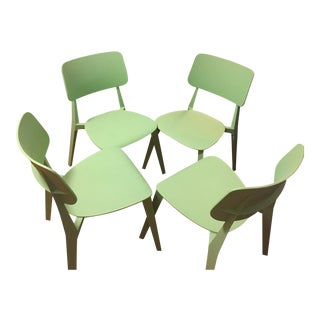 Set of Four Nuans Stellar Dining Chairs in Mint