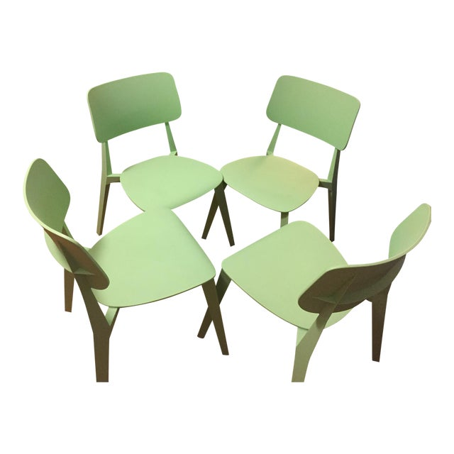 Set of Four Nuans Stellar Dining Chairs in Mint - Image 1 of 3