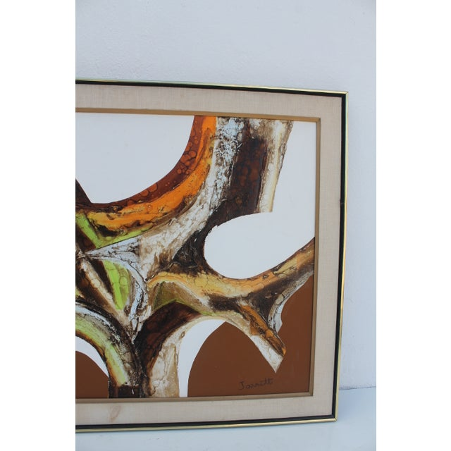 Image of A- Large Vintage Expressionist Abstract Painting