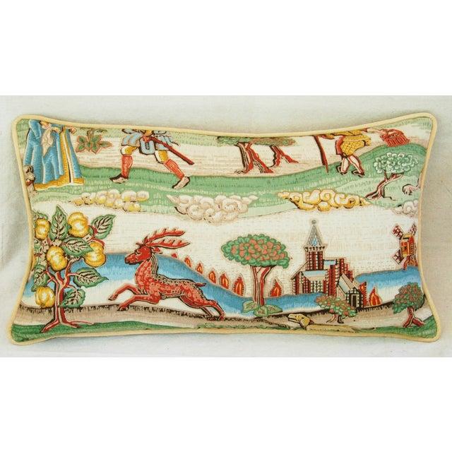 Designer Brunschwig & Fils Medieval Pillows - Pair - Image 6 of 8