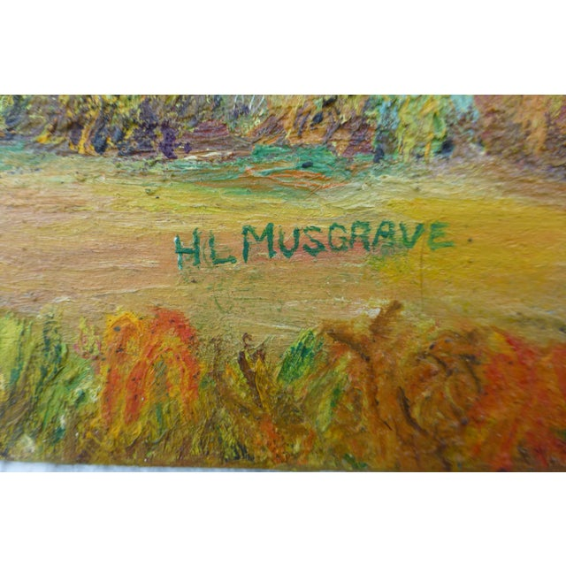 Mid Century Farm Painting by H.L. Musgrave - Image 3 of 7