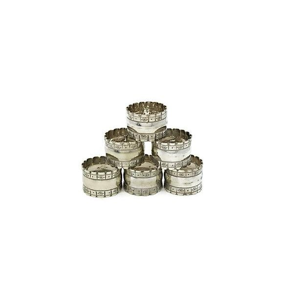 English Officers Numbered Napkin Rings - Set of 6 - Image 2 of 3
