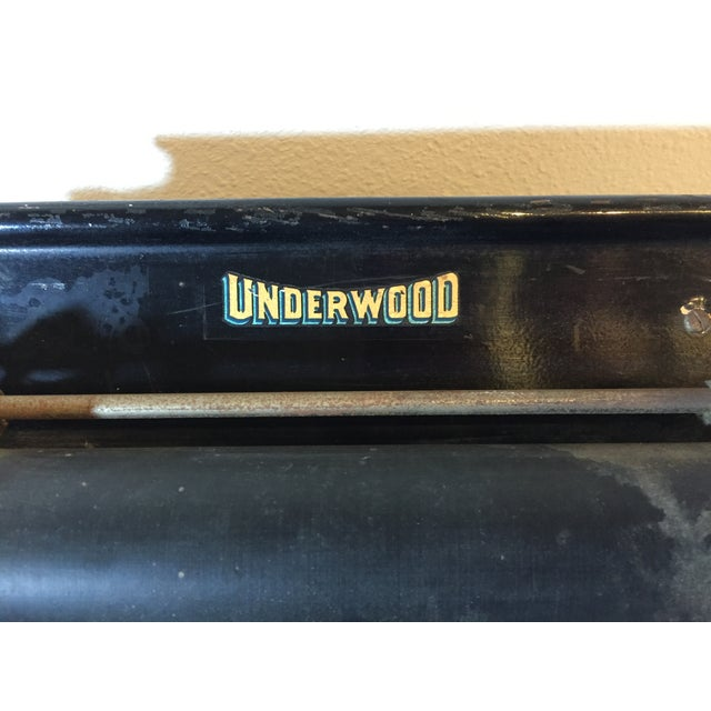 Antique 1908 Black Underwood Typewriter - Image 11 of 11