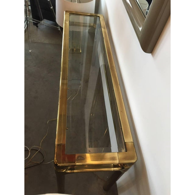 Mastercraft Brass and Glass Console - Image 6 of 6