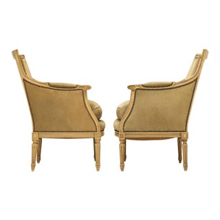 Vintage French Louis XVI Style Bergere Chairs