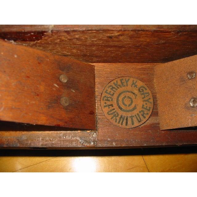 Berkey & Gay Jacobean Cane & Cowhide Arm Chair - Image 11 of 11