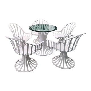Russell Woodard Mid-Century Aluminum Table & 5 Chairs