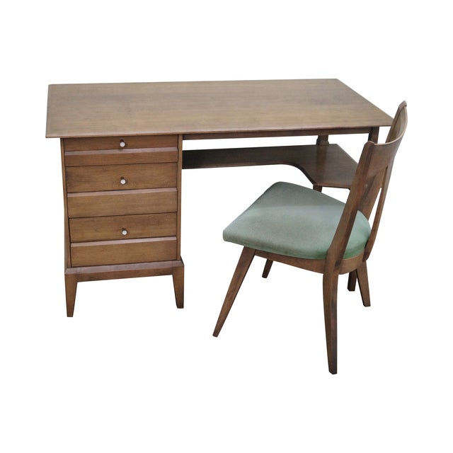 Heywood Wakefield Mid-Century Sable Desk & Chair - Image 1 of 10