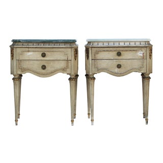 Vintage Shabby Chic Side Tables - A Pair