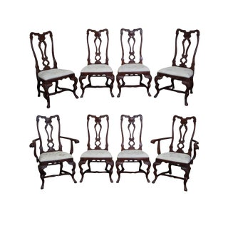 Habersham French Rococo Style Dining Chairs - Set of 8