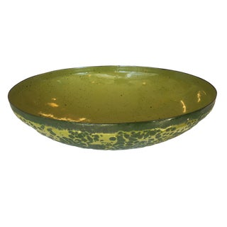 Hanova Avocado Green Lava Glaze Enamel Bowl