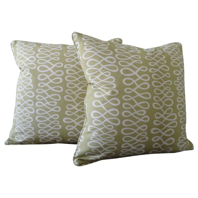 Spring Green Accent Pillows - A Pair Chairish