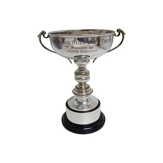 Oversized English Silver-Plate Golf Trophy - Image 1 of 3