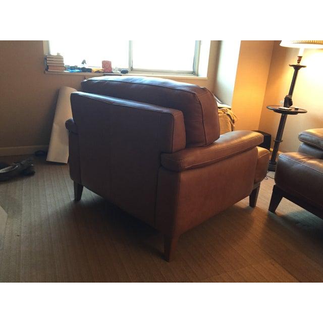 Designer Italian Leather Chair - Image 4 of 6