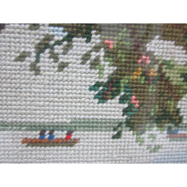 Oriental Asian Teahouse on the Lake Needlepoint - Image 7 of 11