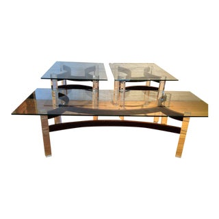 Rosewood & Lucite Tables