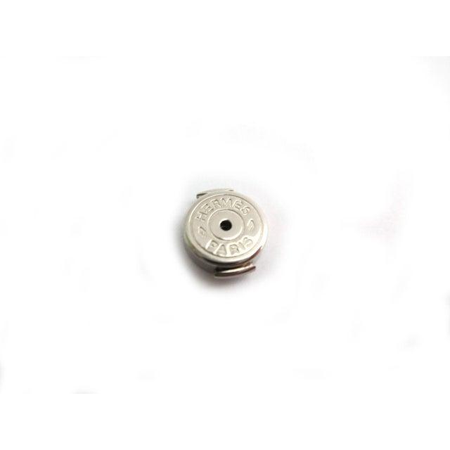 Image of Hermes H Square Piercings Palladium Ex071879