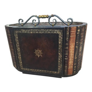 Leather Books Magazine Rack