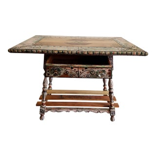 Reclaimed Vintage Inlay Side Table