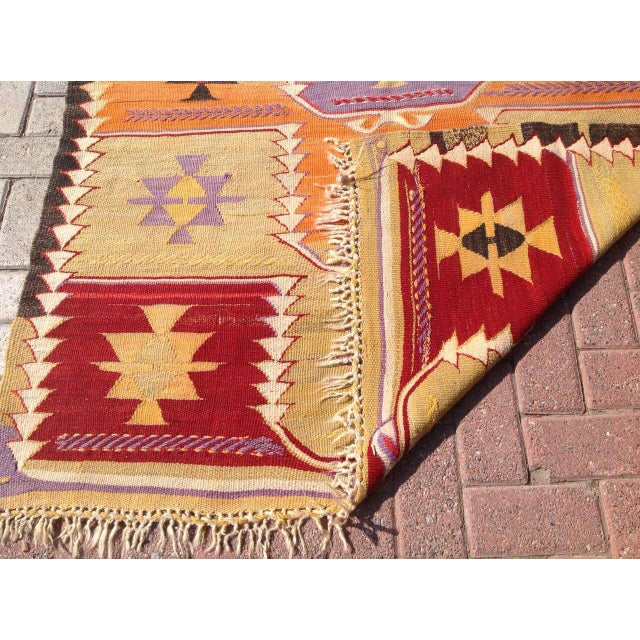 Vintage Turkish Kilim Rug - 4′2″ × 6′2″ - Image 6 of 6