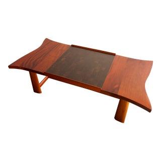 Wharton Esherick Style Handmade Mahogany Coffee Table