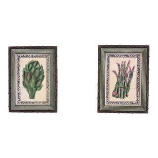John Richards Hand Painted Tiles - A Pair