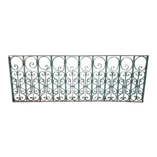 Antique Victorian Verdigris Iron Garden Fence