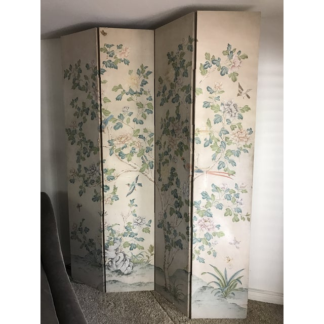 Gracie Chinoiserie 4 Panel Wallpaper Screen - Image 10 of 11
