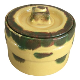 Vintage Pottery Canister with Lid