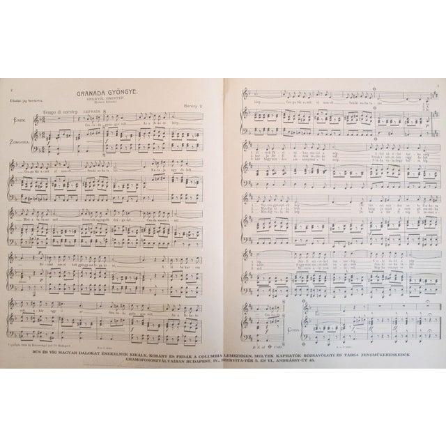 1925 Hungarian Music Sheet Josephine Baker - Image 3 of 3