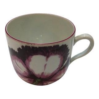 Portuguese Motahedeh Floral Porcelain Cup