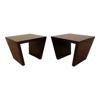 Modern Contemporary Pottery Barn Geometric End Tables - a Pair