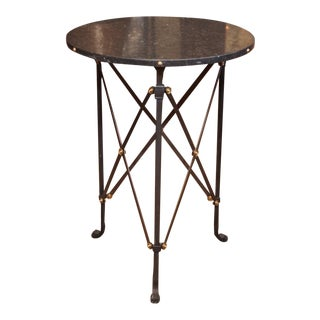 Contemporary Round Table with Marble Top