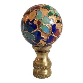 Vintage Cloisonne Floral Lamp Finial