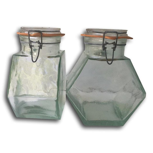 Vintage Hermetic Glass Jars - A Pair - Image 3 of 5