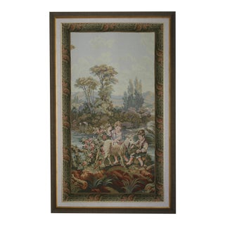 Vintage Large Framed Tapestry