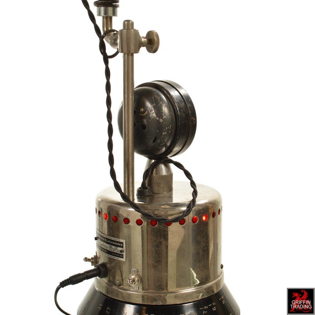 Industrial Table Lamp with LED Lighting and Clock - Image 8 of 10