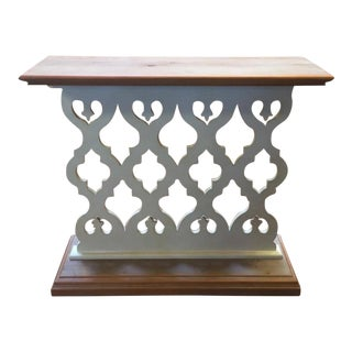 Perforated Wood Sofa Table