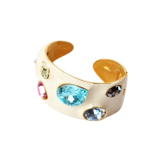 Kenneth Jay Lane Multi Stone & Enamel Bracelet