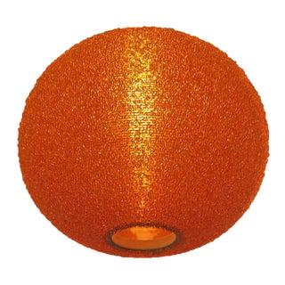 Mid-Century Arctic Orange Globe Shade Pendant