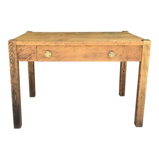Antique Mission Style Art & Crafts Oak Desk