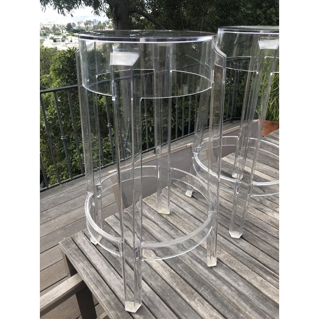Kartell & Starck Charles Ghost Counter Stools - A Pair - Image 2 of 11