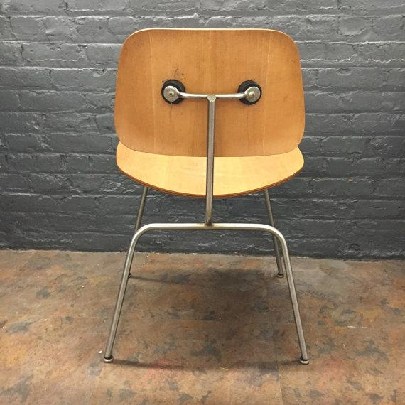 early eames evans dcm bent plywood chair chairish