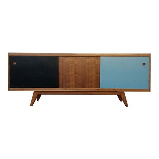Mid Century Style Solid Walnut Credenza