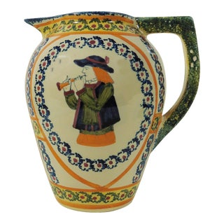 French Quimper Faience Pitcher